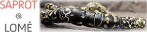 SAPROT | Magasin de Perles rares et anciennes d'AfriquePerles anciennes doubles à chevrons - SAPROT | Magasin de Perles rares et anciennes d'Afrique