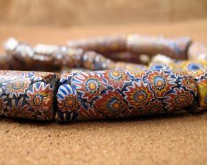Perles anciennes Millefiori (Millefleurs)